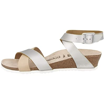4db47012fd5 Papillio Female Lola Pull-up Natural Leather Slim Shoes Silver Size  5 UK