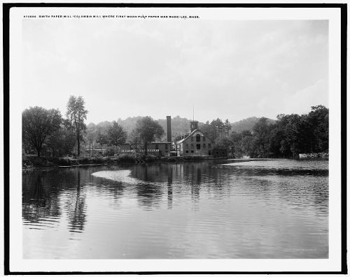 HistoricalFindings Photo: Smith Paper Mill Columbia,first wood pulp paper ()