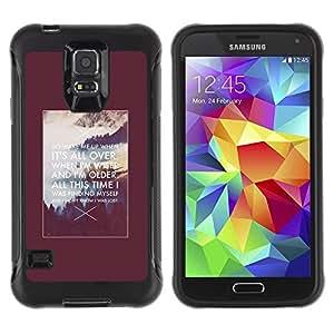 LASTONE PHONE CASE / Suave Silicona Caso Carcasa de Caucho Funda para Samsung Galaxy S5 SM-G900 / Motivational Inspiring Alaska Quote Poster
