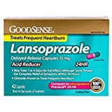 GoodSense Acid Reducer, Lansoprazole Delayed Release Capsules, 15 mg, 42 Count - Pack of 6