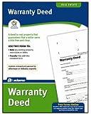 Adams Warranty Deed Form, 8.5 x 11 Inch, White (LF602)