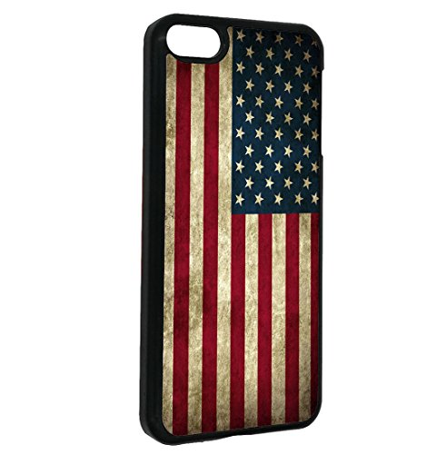 (American Flag iPod Touch 6 Case Vintage American Flag for iPod Touch 6 Case(Black Hard Plastic))