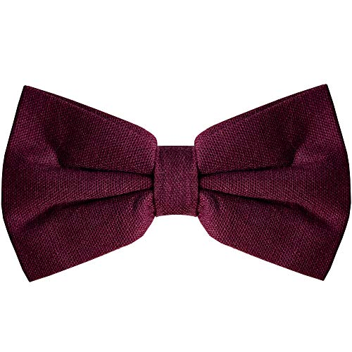 (Bow Tie for Men Ties – Mens Pre Tied Formal Tuxedo Bowtie for Adults & Children, Wine)