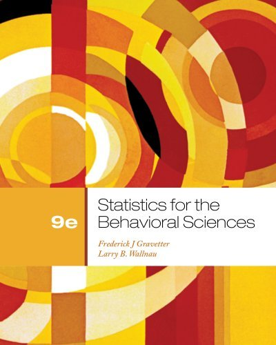 By Frederick J Gravetter Bundle: Statistics for the Behavioral Sciences, 9th + Aplia Printed Access Card (9th Ninth Edition) [Hardcover] pdf epub