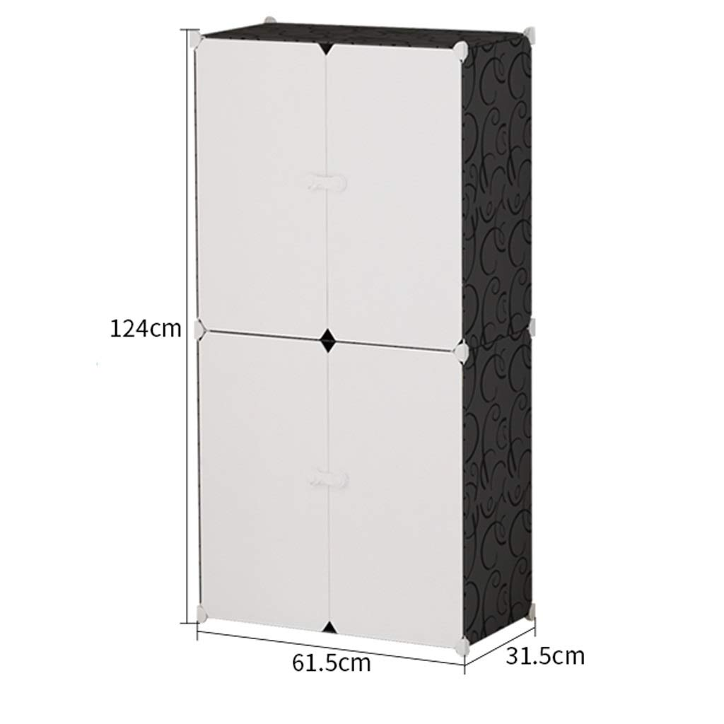 White black 8 Tier Closet Storage Cabinet Organizer, Cube Storage shoes Organizers Bench, shoes Rack with Dustproof Cover Closet shoes Storage, Ideal for Entryway Hallway Bathroom (color   White)