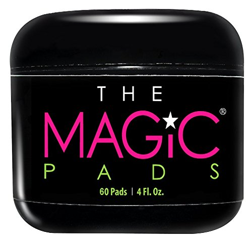 The Magic Pads - 2% Glycolic Acid Pads with USDA Certified Organic Extracts, 60 Count (Pads Glycolic)
