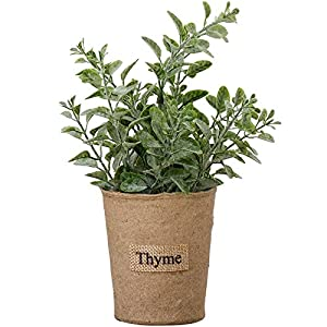 Indie Shop 1 Piece Plastic Mini Plants Topiary Trees Fake Fresh Grass Flower Tabletop Plants Gray Pots Small Artificial Plants Threshold 3