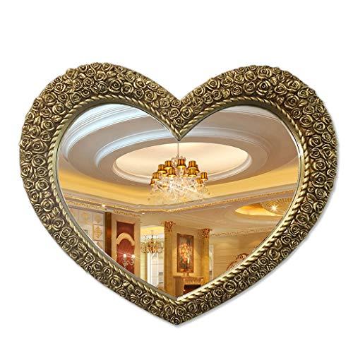 Mirrors Heart-Shaped Bathroom Bathroom Wall-Mounted Waterproof Bathroom Wash Basin Porch Decorative Frame -