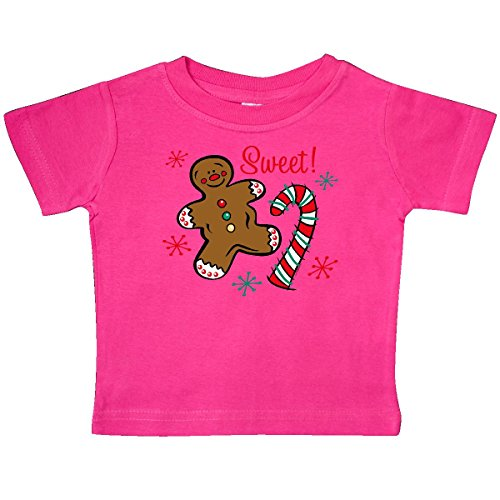 - inktastic - Christmas Sweet Baby T-Shirt 12 Months Hot Pink 2dcb2