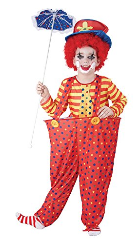 Bristol Novelty Hoop Clown Costume (XL) Childs Age 9 - 11 Years