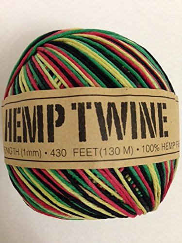 Rainbow-Colorful-Hemp-Twine-Cord-1mm-143yd-130m-430ft-DIY
