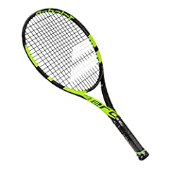 Packed with control, spin, power, and more spin yet, the Babolat Pure Aero Junior 26 Inch Black/Yellow Tennis Racket is a great option for strong intermediate or advanced junior level players looking for the technology and play of the ...