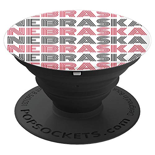- State of Nebraska Fun Fan Cool Sports Adults Kids - PopSockets Grip and Stand for Phones and Tablets