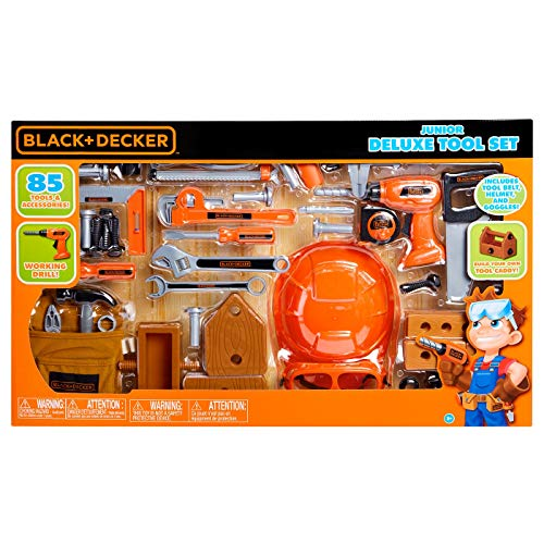 BLACK+DECKER Junior Deluxe Tool Play Set - 85pc