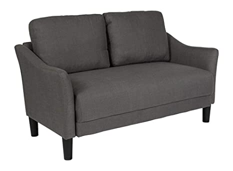 Amazon Com Offex Contemporary Upholstered Loveseat Couch With Loose