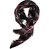 Vivian & Vincent Childrens Soft Classic Luxurious Blanket Tartan Square Scarf Wrap for Kids
