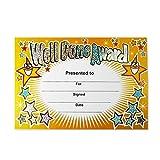 SuperStickers DMC10018 Well Done Award Sparkling Classroom Certificate