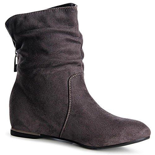 topschuhe24 - Botas para mujer gris