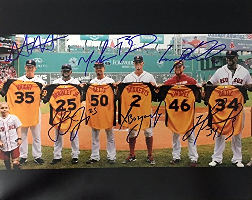 (Boston Red Sox All-Stars Autographed 8x10 Photograph)