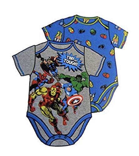 Marvel Comics Infant Boys 2pc Avengers Bodysuit Set Hulk & Thor Baby Outfit 24m Blue -