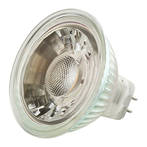 3000K GU5.3 Base Soft White Glow Solray 4-Pack of MR16 LED 5-Watt 400 Lumens 40/° Beam Angle 35-Watt Halogen Replacement 25,000 Hours AC//DC 12V
