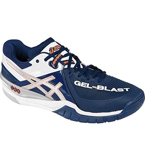 Asics Gel-Blast 6–Zapatillas de balonmano de la e413y Hombres Navy-Lightning-White