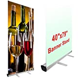 40'' x 79'' Economy Rollup Retractable Banner Stand