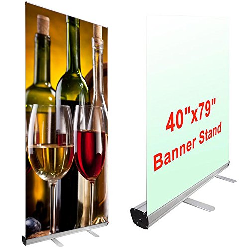 40'' x 79'' Economy Rollup Retractable Banner Stand by Generic Brand