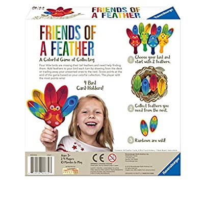 Ravensburger 60001834 Friends of a Feather Game for Boys & Girls Age 3 & Up - A Fun & Fast Family Card Game You Can Play Over & Over, Multicolor: Toys & Games