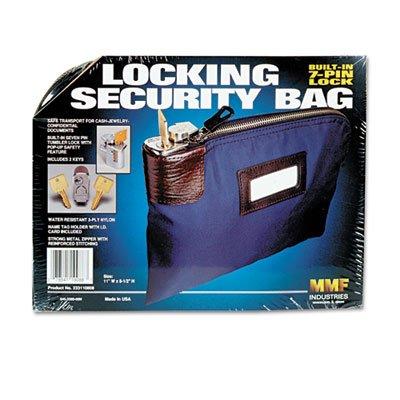 Seven-Pin Security/Night Deposit Bag w/2 Keys, Nylon, 8 1/2 x 11, Navy, Sold as 2 Each