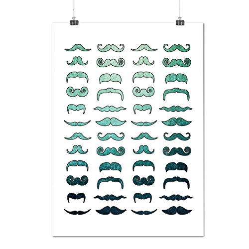Mustache Stylish Fashion Hair Style Matte/Glossy Poster A3 (42cm x 30cm) | Wellcoda (70s Hairstyles And Makeup)
