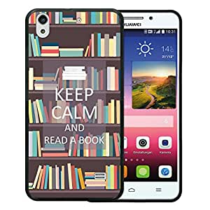 WoowCase Funda Huawei Ascend G620S, [Huawei Ascend G620S ] Funda Silicona Gel Flexible Keep Calm and Read a Book, Carcasa Case TPU Silicona - Negro