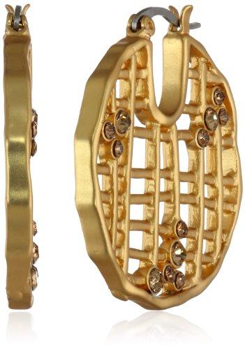 UPC 748838301745, T Tahari Crystal and Mesh Hoop Earrings