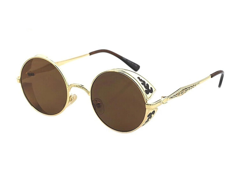 Telam Men and Women Fashion Retro Round Sunglasses, Retro Sunglasses