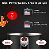 TOPWIT Electric Kettle, Mini Hot Pot, Rapid Noodles Cooker with Multi-Function for Steam, Egg, Soup and Stew with Over-Heating Protection, Boil Dry Protection, Dual Power, 1.2L