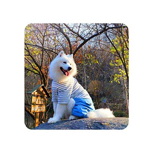 Encounter_meet Large Dog Clothes Cotton Pet Jumpsuit for Pet Coat Jacket for Dogs Costume Retriever Labrador,Gray,7XL]()