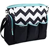 Boy Girl Black Chevron iPack Diaper Bag