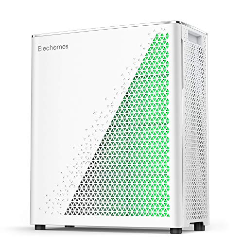 Elechomes Air Purifier with True HEPA Filter, Air Quality Monitor with Dust and Smell Sensors, Air Cleaner Filter for Large Room, Allergies, Dust, Smoke, Pets, UC3101