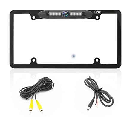 Amazon.com: License Plate Frame Backup Camera - Built-in Distance ...
