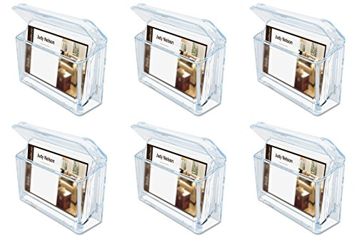 - Deflecto Grab-A-Card Outdoor Business Card Holder, 4 1/4 x 2 3/4 x 1 1/2 Inches (70901), 6 Packs