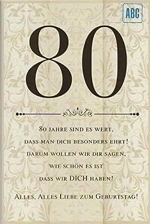 Besondere geburtstagskarte zum 80 geburtstag