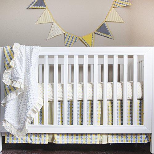 Pam Grace Creations Crib Bedding Set, Simply Argyle ()