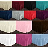 LUXURY PLAIN POLY COTTON VALANCE BED SHEETS SOPHISTICATED BEDDING D??COR,19 COLORS ALL UK SIZES NEW (DOUBLE, PLUM) by Nightzone