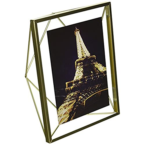 umbra prisma picture frame 4 by 6 inch matte brass - Modern Picture Frames