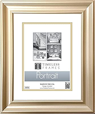Timeless Frames 16x20 Inch Fits 11x14 Inch Photo Lauren Portrait Wall Frame, Gold