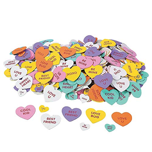 Conversation Heart Foam Hearts