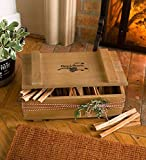 Plow & Hearth Solid Wood Replica Crate 8 lbs. Fatwood - 16 L x 10 W x 6.5 H