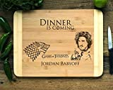 Personalized Cutting Board Engraved Bamboo Chopping Block HDS - Game of Thrones