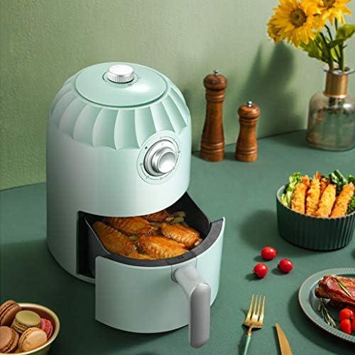 QLTY Mini Friteuse à air Chaud Domestique 2L / 800W,Airfryer avec système de Circulation d'air Rapide à 360 °,Convient pour Une Cuisson Saine,Faible en Gras et sans Huile