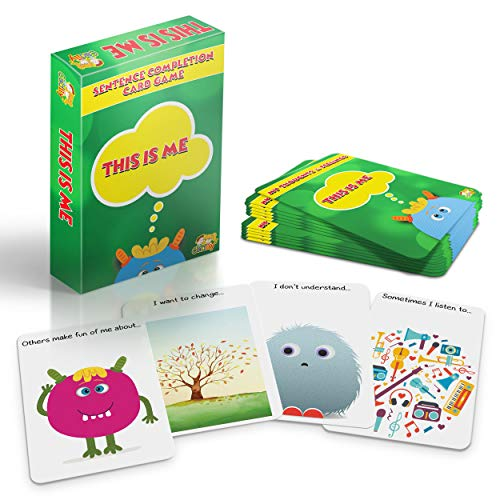Cadily This is Me: Sentence Completion Therapy Games | Used As Social Skills Games | Counseling Games | School Games | Play Therapy Toys for Parents & Professionals to Teach Kids to Express Feelings ()